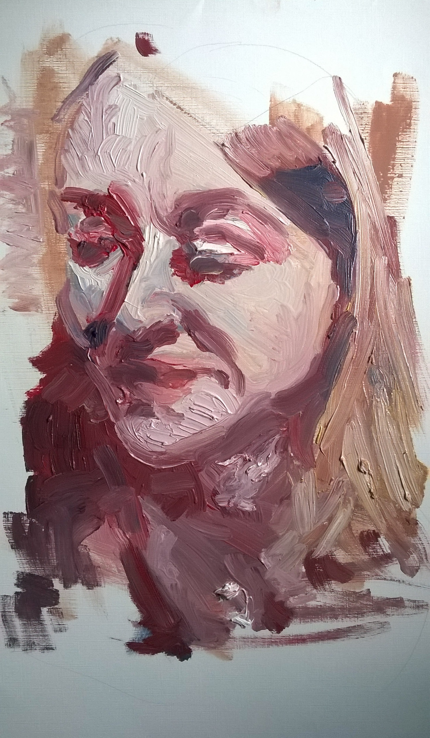 Portrait in white 40x50 ca
