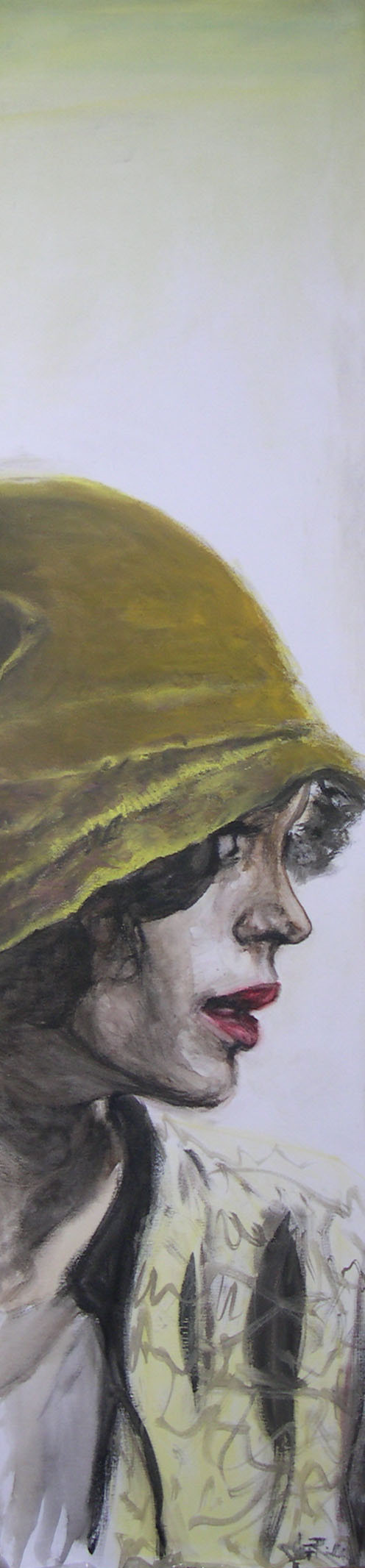 Portrait in ochre 30X100 PRIVATE COLLECTION